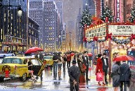 New York Theater Xmas  Fine Art Print