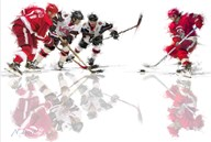 Ice Hockey 1  Fine Art Print
