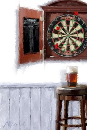 Framed Dart Board Print