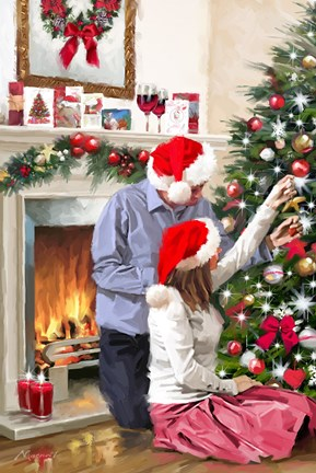 Christmas Couple Fine Art Print By The Macneil Studio At