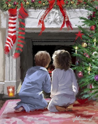 Waiting For Santa Fine Art Print By The Macneil Studio At