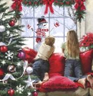 Kids At Window  Fine Art Print