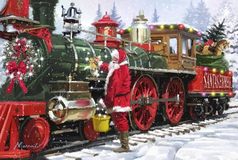 Santa S Train 1 Fine Art Print By The Macneil Studio At