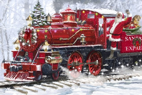 Santa S Train 2 Fine Art Print By The Macneil Studio At