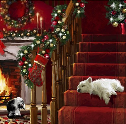 Xmas Pets Fine Art Print By The Macneil Studio At