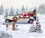 Santa's Car  Fine Art Print
