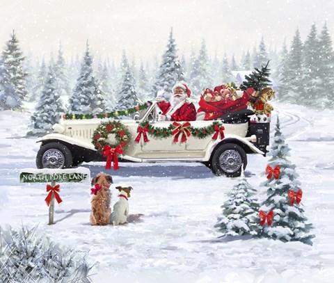 Santa S Car Fine Art Print By The Macneil Studio At