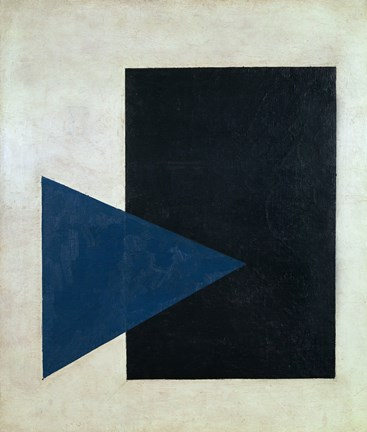 Framed Black Square, Blue Triangle, 1915 Print