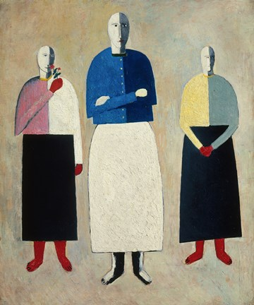 Framed Three Women, c. 1923 Print