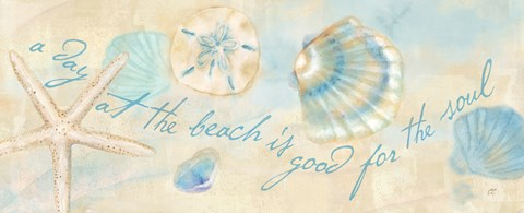 Framed Watercolor Shell Sentiment Panel II Print
