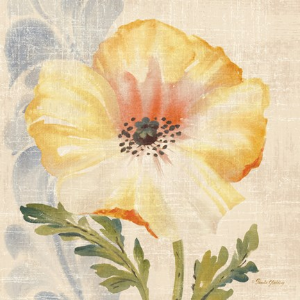 Framed Watercolor Poppies II Print