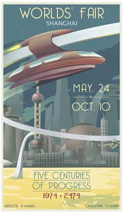 Framed Shanghai Worlds Fair Print