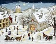 The Children's Christmas Program  Fine Art Print