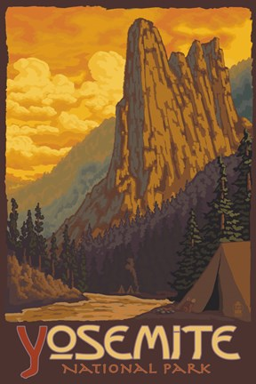 Framed Yosemite National Park Scene III Print