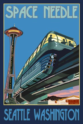 Framed Space Needle Seattle Print