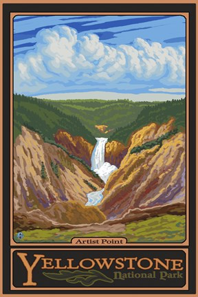 Framed Artis Point Yellowstone Park Print
