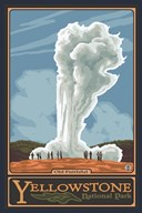 Old Faithful Yellowstone Park Ad  Fine Art Print