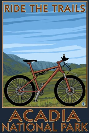 Framed Ride The Trails Acadia Park Print