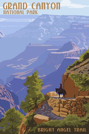 Framed Grand Canyon Bright Nigel Trail Print