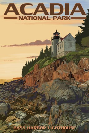Framed Acadia Park Bass Harbor Lighthouse Print