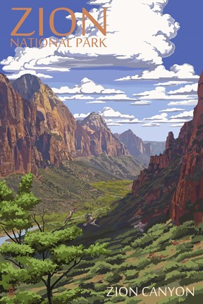 Framed Zion Canyon Print