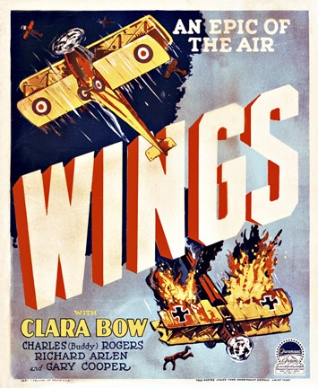 Framed Wings Movie Poster Print
