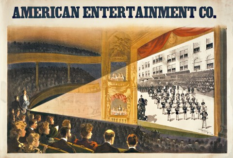 Framed American Entertainment Print