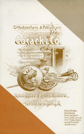 Framed Cosack & Co. Lithographers & Publishers Print