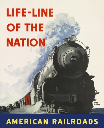 Framed Life-line of the Nation American Railroads Print