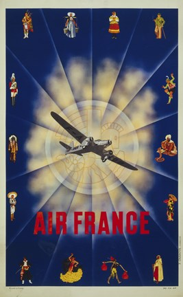 Framed Air France by P. Chanove Print