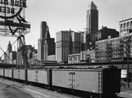Chicago Skyline from Water Street  Fine Art Print