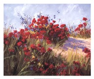 Red Poppies and Wild Flowers Art