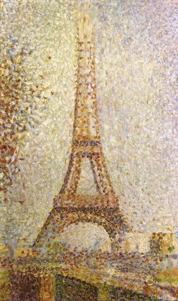 Framed Eiffel Tower by Seurat Print