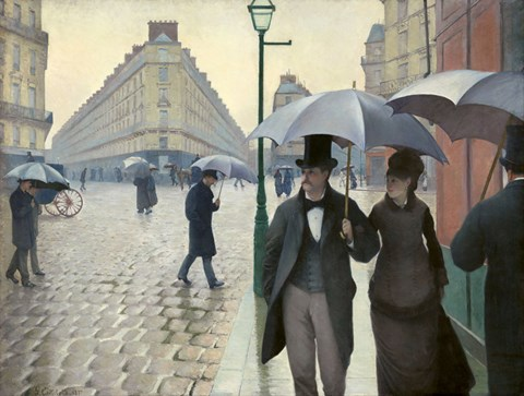 Framed Caillebotte, Paris Street, A Rainy Day Print