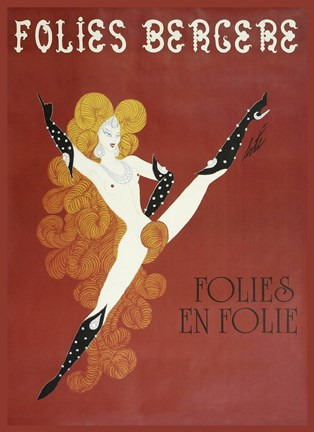 Framed Folies Bergere Risque Print