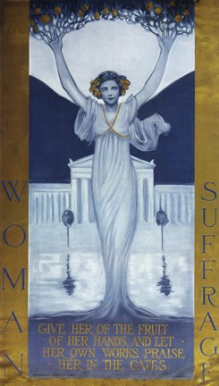 Framed Woman Suffrage Print
