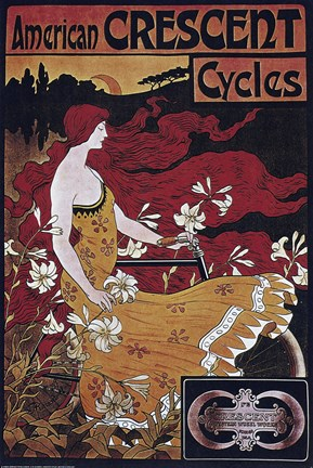 Framed American Crescent Cycles Print
