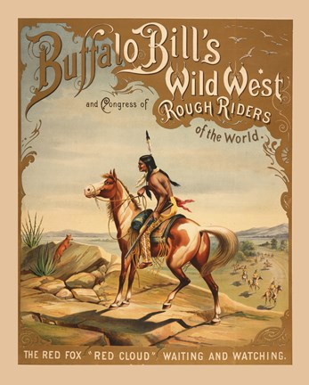 Framed Buffalo Bills Wild West I Print