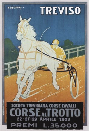 Framed Treviso Horse Racing Print