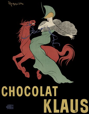 Framed Chocolate Klaus Print