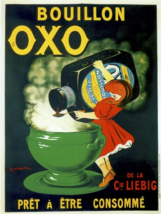 Framed Bouillon OXO Print