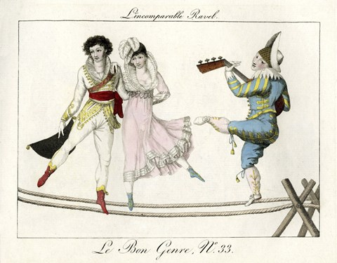 Framed Tightrope Walkers French Print