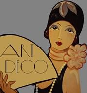 Art Deco Flapper  Fine Art Print