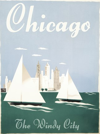 Framed Chicago Windy City Print
