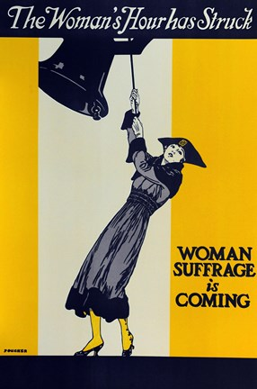 Framed Womans Suffrage Print