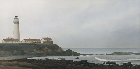 Framed Pigeon Point Lighthouse Print