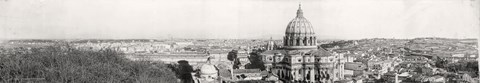 Framed Rome from Vatican 1909 Print