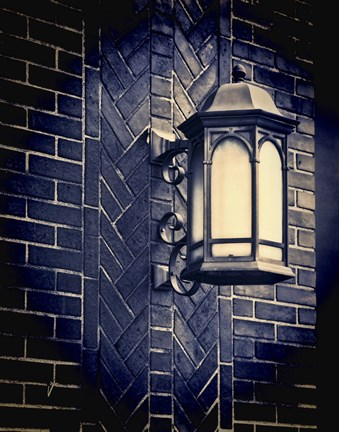 Framed Street Lamp Print