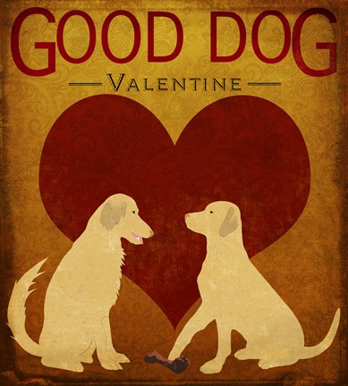 Framed Good Dog Valentine III Print