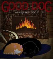 Good Dog Apres Ski Lodge I  Fine Art Print